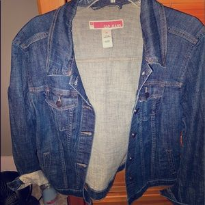 Gap plus size blue jean jacket